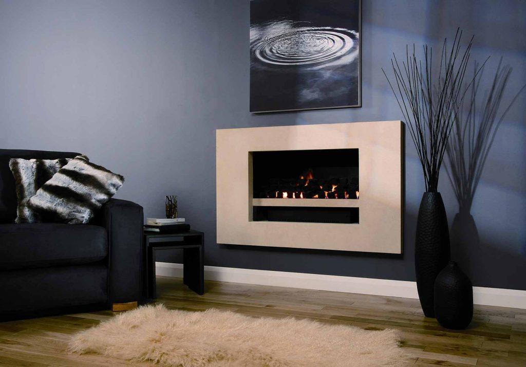 Iris Slab Fireplace